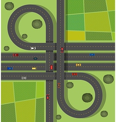 Scene with roads on the street vector