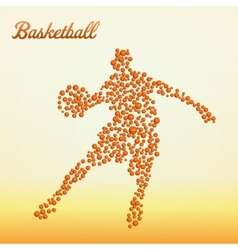 Abstract basketball player vector image