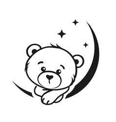 Bear dreamer vector image vector image