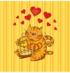 cat love vector image
