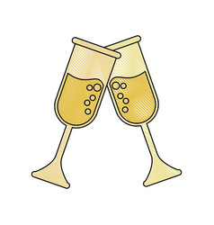 champagne glass cups vector image vector image