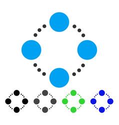 circular relations flat icon vector image vector image