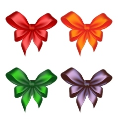 Colored ribbon bows vector image
