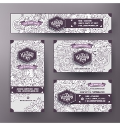 Corporate identity templates set design with vector