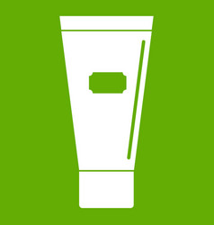 cosmetic tube of cream or gel icon green vector image