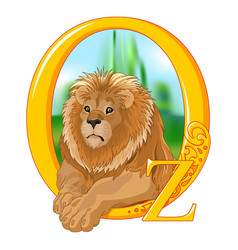 cowardly lion vector image vector image