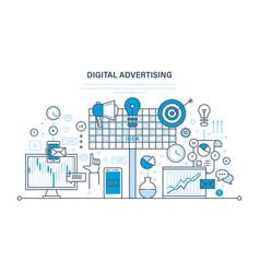 Digital advertising marketing media planning vector