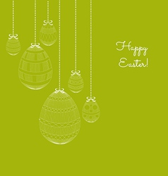 Easter eggs in doodle background vector image vector image