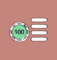 Flat shading style icon casino stuff chip vector