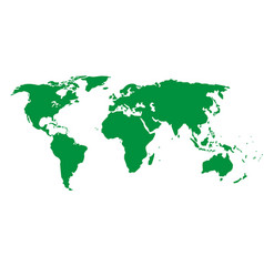 green map world landmark image vector image