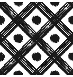 Grunge seamless pattern of black white diagonal vector image vector image
