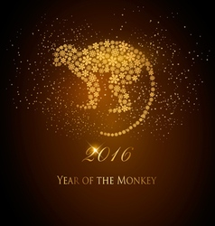 Happy New Year 2016 background with a monkey Year vector image vector image