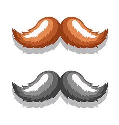 Image Mustache Black Brown vector image