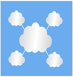 Infographic web clouds vector image