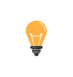 light lamp flat icon education business element vector image