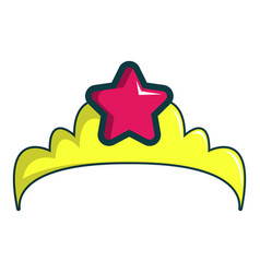 Little princess crown icon cartoon style vector