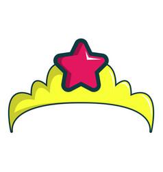 little princess crown icon cartoon style vector image