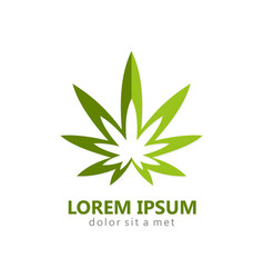 Marijuana leaf abstract logo vector
