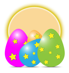 multicolored easter eggs with shadows with vector image vector image