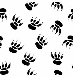 Paw print background vector
