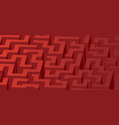 Red maze labyrinth - horizontal version vector