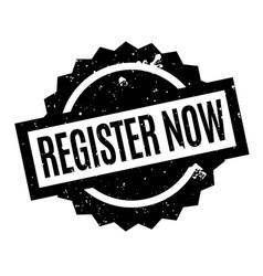 Register now rubber stamp vector