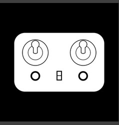 Remote control white color icon vector