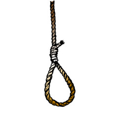 rope noose hanging in vector image
