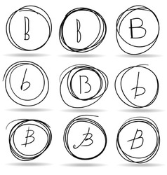 Scribble circles or highlights vector