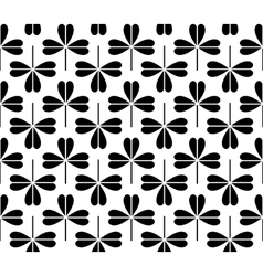 seamless black-and-white pattern vector image vector image