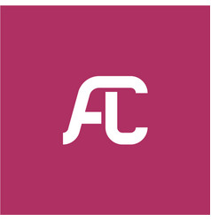 two letters a and c ligature logo vector image vector image