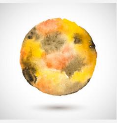 Watercolor-yellow-brown-blot vector