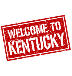 welcome to kentucky stamp vector image vector image
