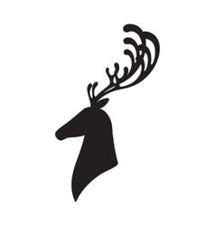 Deer head isolated elk vector image