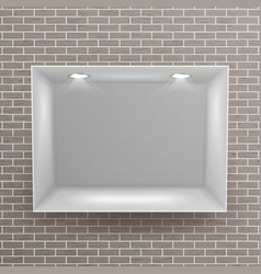 Empty niche  realistic brick wall clean vector