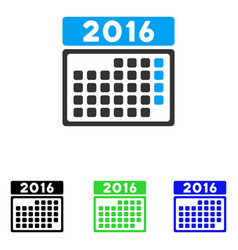 2016 month calendar flat icon vector