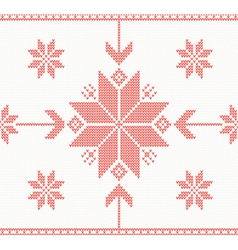 Knitted stars in norwegian style vector