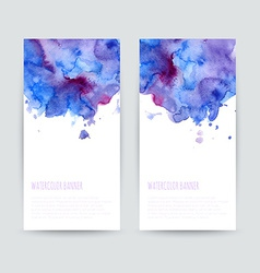 Set of two brochures vector image