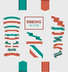 Ribbons elements design collection vector