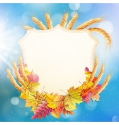 Autumn background with colorful leaves eps 10 vector