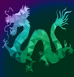 Dragon with polygon on isolate background vector