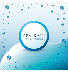 Blue waves design vector