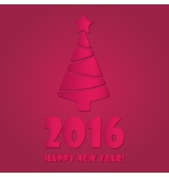 Happy new year 2016 colorful flat design vector