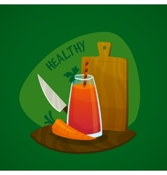 Carrot juice concept vector