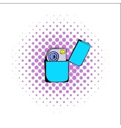 Petrol lighter comics icon vector
