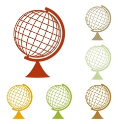 Earth globe sign vector