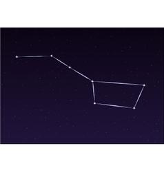 Big Dipper Constellation vector image vector image