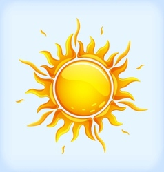 Bright yellow sun vector