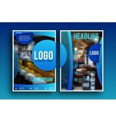 Brochure design Layout template vector image vector image