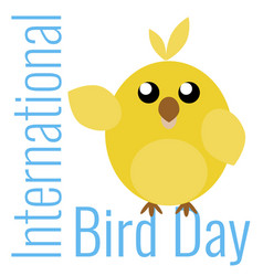 card to bird day vector image vector image